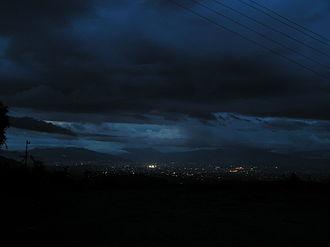 Dalchoki - Night view of Kathmandu from Dalchoki