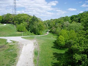Toronto ravine system - The entrance to the Nordheimer Ravine near St. Clair Avenue and Bathurst Street.  The ravine is also a section of Castle Frank Brook.