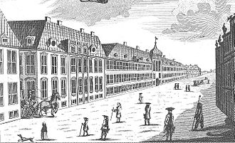 Bredgade - Norgesgade with the Moltke Mansion
