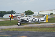 North American P-51D-25-NA Mustang Swamp Ghost N5420V Taxi Out 04 SNF 04April2014 (14399684600).jpg