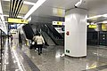 Northbound platform of Terminal 3 of Jiangbei Airport Station (20191224220621).jpg
