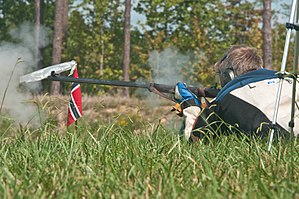 Muzzleloading - A Norwegian competitor at the 2015 MLAIC Long Range World Championship