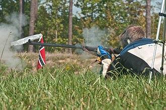 Muzzleloading - A Norwegian competitor at the 2015 MLAIC Long Range World Championship