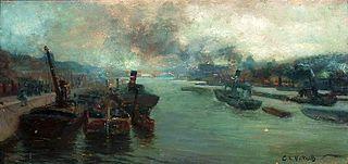A river port.