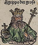 Nuremberg chronicles - Agrippa der gross (XCVIIr).jpg