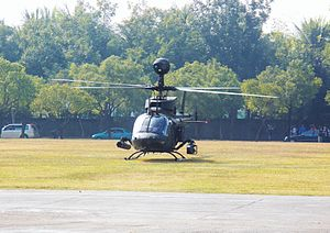 OH-58D Prepare Take off at ROCA Infantry School 12th Block 20120211a.jpg