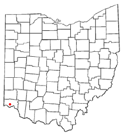 Location of Monfort Heights South, Ohio