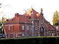 OPOLE budynek wej głównego dworca PKP widok od strony torów. sienio.JPG