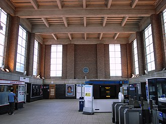 Oakwood tube station - Station interior