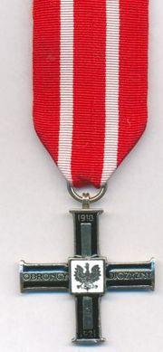 Krzyż za udział w Wojnie 1918-1921 - awers