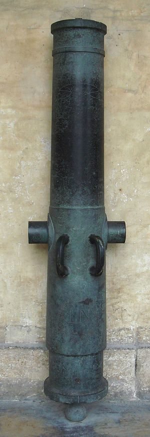Valée system - Obusier de 15 cm Valée, modèle 1828, founded in 1852 in Douai. Caliber: 151 mm. Length: 1.71 m. Weight: 587 kg. Ammunition: shell within sabot, 7.7 kg.