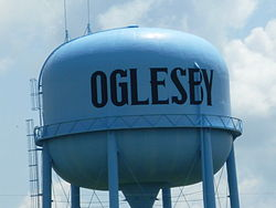 Water tower near I-39 in Oglesby