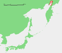 Map showing the location of the Penzhin Bay