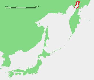 Penzhina Bay - Location of Penzhin Bay in the Sea of Okhotsk.