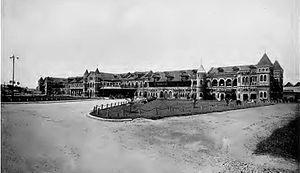Yangon Central railway station - Old Rangoon Central railway station in 1890s