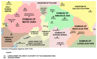 Matthew III Csák - Domain of Matthew Csák