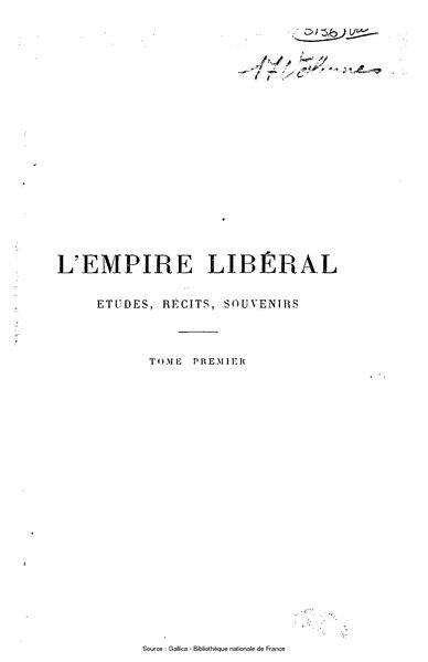File:Ollivier - L'Empire libéral, tome 1.djvu
