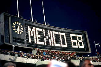 Sport in Mexico - Opening of the 1968 Summer Olympics at the Estadio Olímpico Universitario in Mexico City