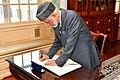 Oman's Foreign Minister Yusuf bin Alawi bin Abdullah Signs Secretary Tillerson's Guestbook Before Their Meeting in Washington (35894503302).jpg
