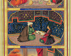 Scheherazade - Scheherazade and the sultan by the Iranian painter Sani ol molk (1849-1856).