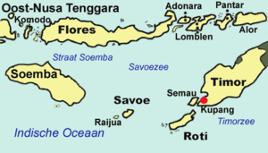 Alor Island - Map of the islands of East Nusa Tenggara, including Alor in the far northeast
