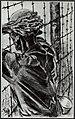 Op uitkijk naar de vrijheid in Buchenwald. Tekening van Henri Pieck, Bestanddeelnr 120-0652.jpg