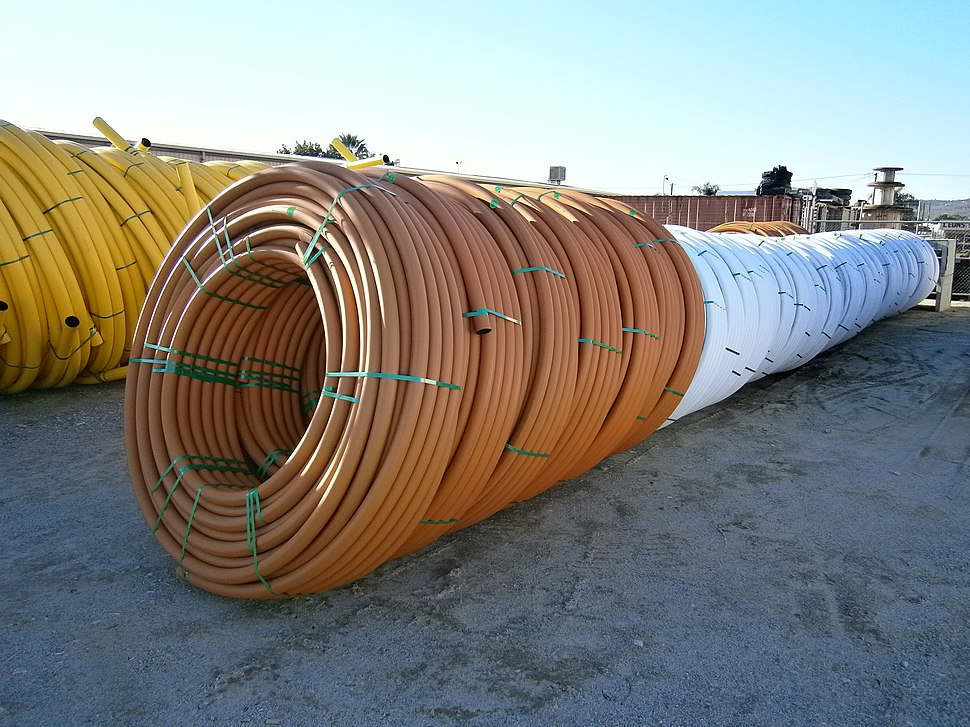 Orange and Yellow HDPE Pipe