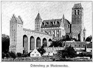 Kwidzyn - Kwidzyn castle in 1912.
