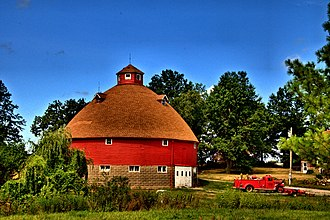 Orie J. Smith Black and White Stock Farm Historic District - Orie J. Smith Round Barn, September 2013