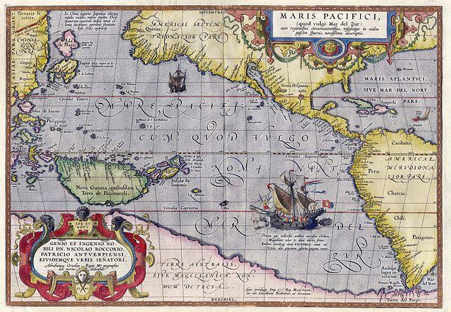 Ortelius. Maris Pacifici. Wikipedia