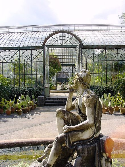 Palermo Botanical Garden: the Winter Garden greenhouses.