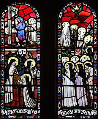 Martyrs of Compiègne - Stained glass window in the Church of Our Lady of Mount Carmel, Norfolk, England