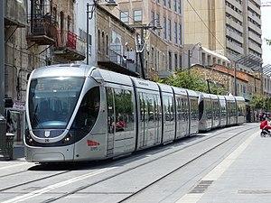 Jerusalem Light Rail - Light Rail at Jaffa Road