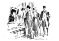 P543, Scribner's Magazine, 1915--Back to the town; or the return to human nature.png