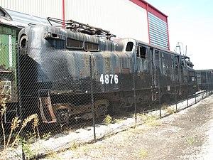 1953 Pennsylvania Railroad train wreck - PRR 4876 preserved at Baltimore Railroad Museum