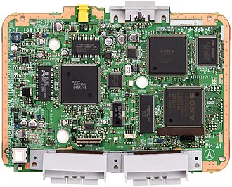 PlayStation technical specifications - An SCPH-101 motherboard.