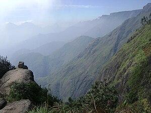 Palani Hills Wildlife Sanctuary and National Park - Escarpment on southern edge of Palani Hills