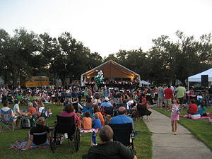 Louisiana Philharmonic Orchestra - LSO concert in Palmer Park, 2008.