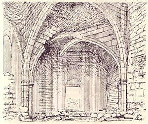 Panagia Apsinthiotissa - Panagia Apsinthiotissa, the ruined narthex, as drawn by Camille Enlart in the late nineteenth century.
