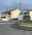 Panneau d'entrée dans Bourg-lès-Valence (janvier 2021).jpg