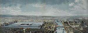 Exposition Universelle (1878) - Aerial view of the Exposition Universelle of 1878