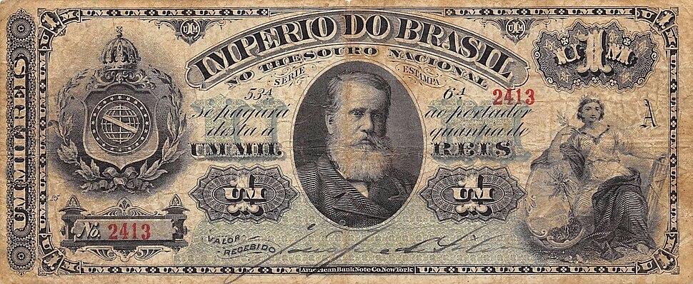 Papel-moeda - 1000 réis