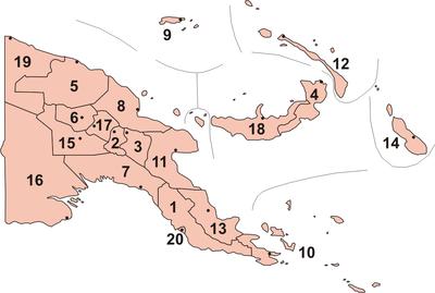 Provinces of Papua New Guinea.