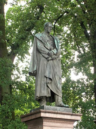 Helmuth von Moltke the Elder - Statue in Parchim, Moltke's birthplace.