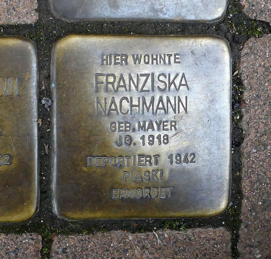 Pariser Strasse 116 - Franziska Nachmann - Stolperstein Nieder-Olm.jpg