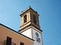 Part superior del campanar de l'església de la Nativitat, Orba.JPG