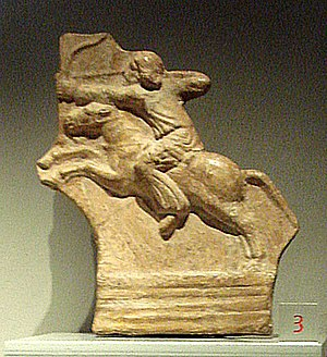 Cavalry - Parthian horseman, now on display at the Palazzo Madama, Turin.