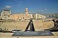 Passerelle entre le fort st jean et l'église st Laurent à Marseille.jpg