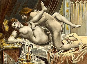 Missionary position - Édouard-Henri Avril depiction of the missionary position