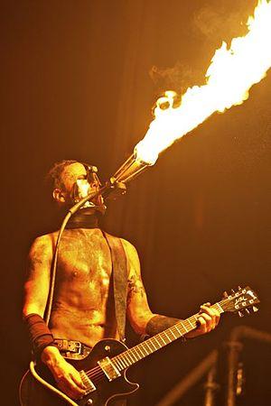 """Paul Landers - Landers performing """"Feuer Frei"""" with Rammstein"""